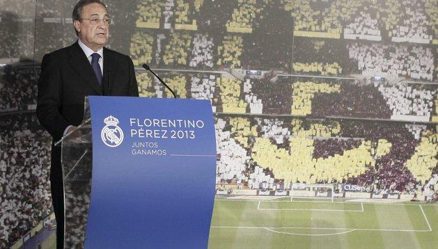 Florentino Pérez presentó su candidatura a la presidencia del Real Madrid