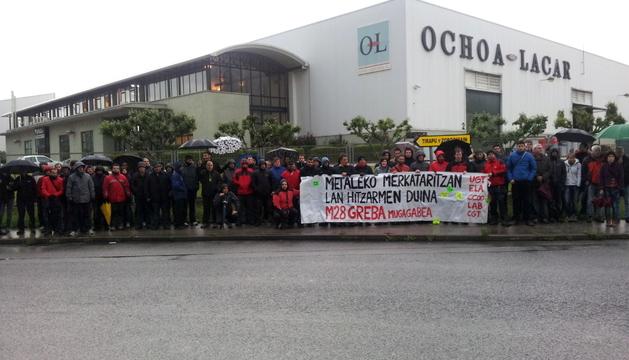 Concentración de este viernes de los trabajadores del sector de Comercio de Metal