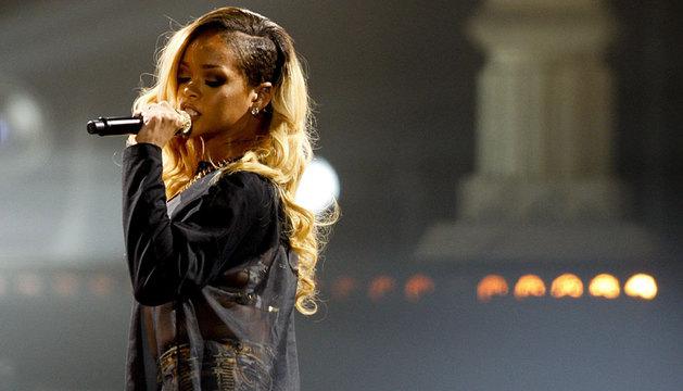 Rihanna, en su actuación en Lisboa.