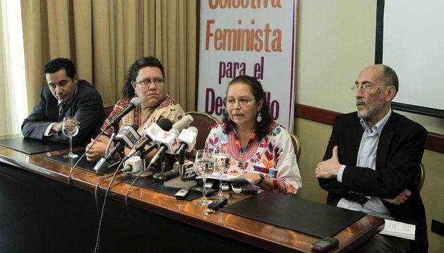 Rueda de prensa de la  Agrupación Ciudadana por la Despenalización del Aborto, Terapéutico, Ético y Eugenésico.