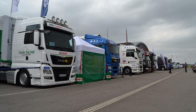 Camiones en el Circuito de Navarra