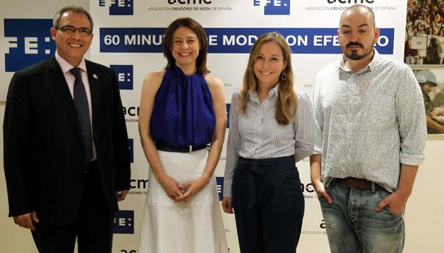 (De izda a dcha) Rafael Díaz, Monserrat Iglesias, Teresa Sádaba y Juan Duyos.