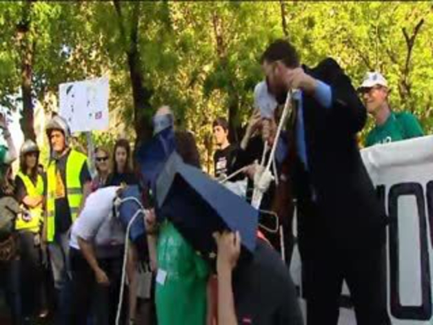 'Marea Ciudadana' en el centro de Madrid contra la Troika