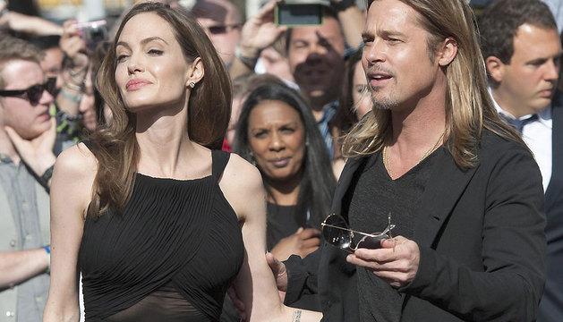 Angelina Jolie y Brad Pitt en el estreno de