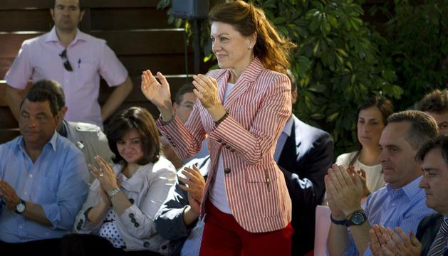 María Dolores de Cospedal, en la clausura de un acto con interventores y apoderados del PP de Sevilla