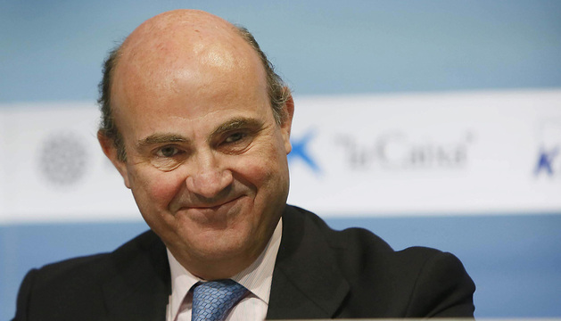 l ministro de Economía y Competitividad, Luis De Guindos.