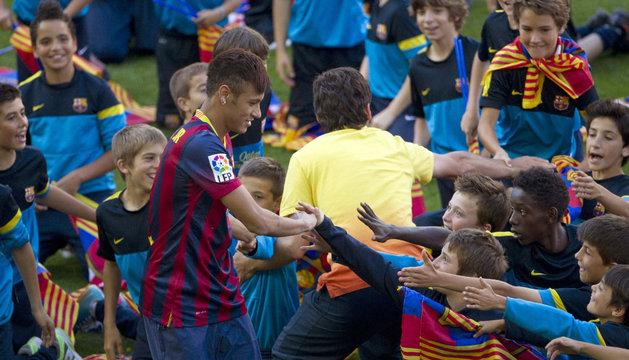 Neymar Jr, en su presentación.