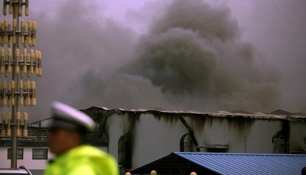 Incendio en el matadero avícola de la ciudad de Mishaze, (noreste de China).