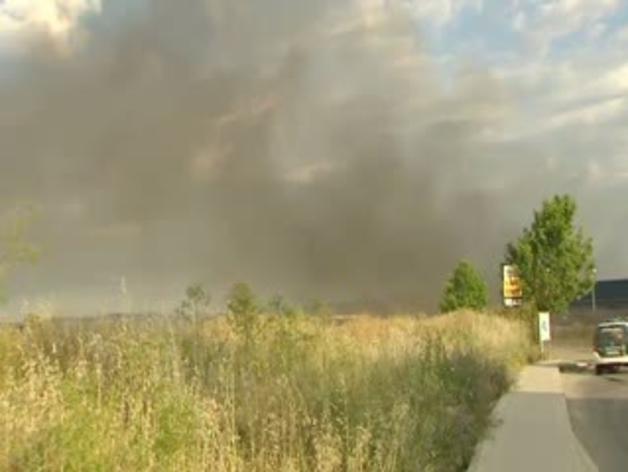 Arde en Arganda del Rey una planta de reciclaje de productos químicos