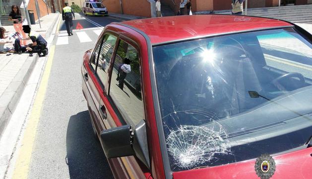 Atropello en la calle Sangüesa de Pamplona