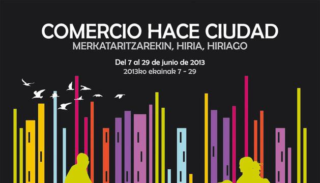 Cartel de la campaña Comercio hace Ciudad