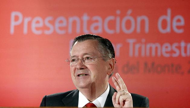 Alfredo Sáenz, durante la presentación de los resultados de la entidad del primer trimestre de 2013