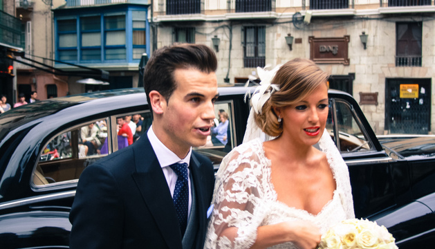 Íñigo Pérez, con su ya esposa Aitziber