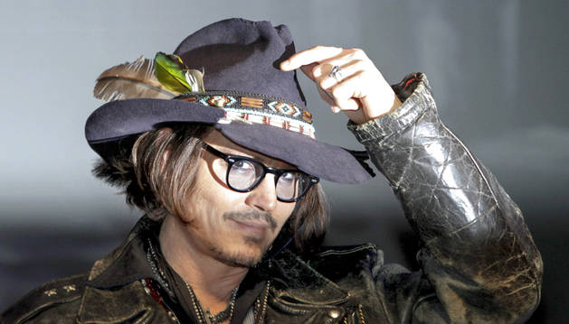 Imagen del actor Johnny Depp en una conferencia en Japón en mayo de 2012