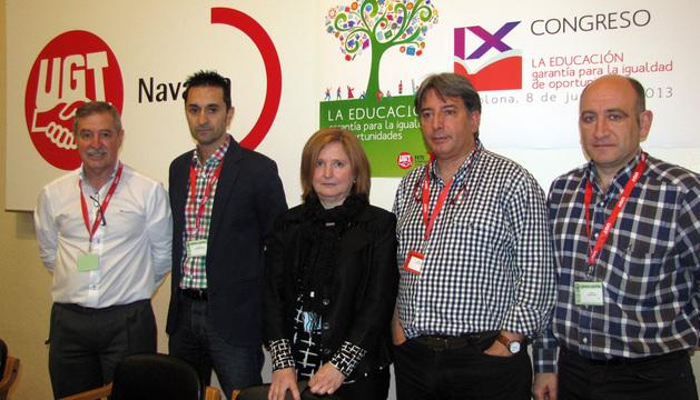 Salvador Balda, Alejandro Gastaminza, Mª José Anaut, Vicente Tanco y Augusto Paredes.