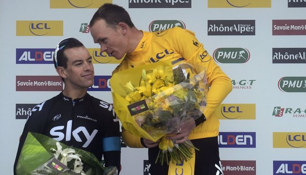 Richie Porte y Christopher Froome.
