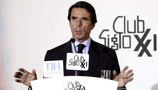 El expresidente del Gobierno y presidente de la Fundación FAES, José María Aznar.