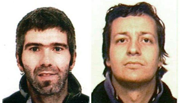 Fotografías facilitadas por el Ministerio del Interior de Jon Lizarribar Lasarte, dcha., y Rubén Gelbentzu González.