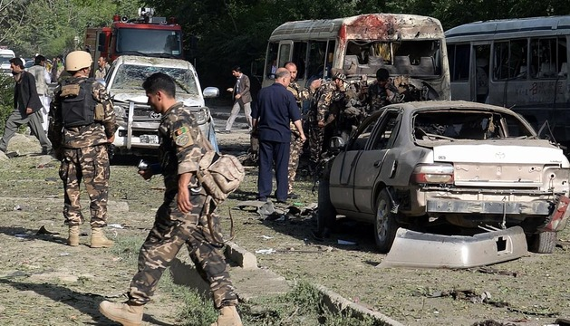 Escenario tras la explosión