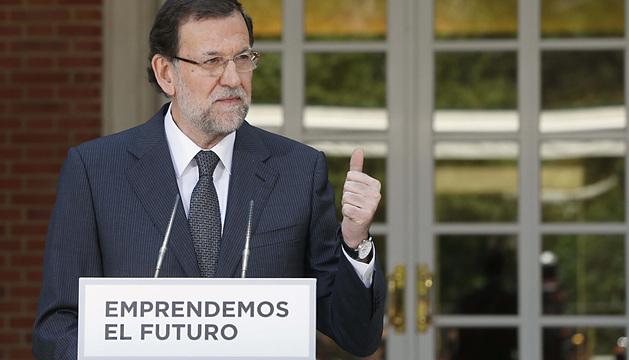 Mariano Rajoy, durante su intervención en la presentación del anteproyecto de ley de apoyo a los emprendedores.