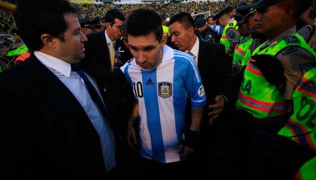 Messi, jugador argentino del Barcelona