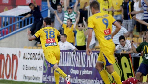 Miguélez, autor del gol del Alcorcón.