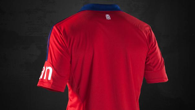 Parte trasera de la camiseta de Osasuna