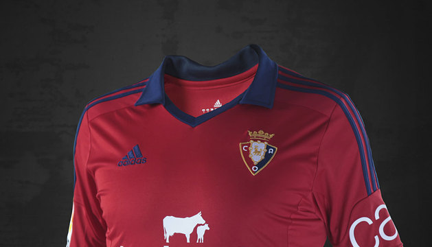 Camiseta de Osasuna para la temporada 2013-2014.
