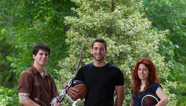 Igor López, Javier Valderrey y Helena Rodríguez.