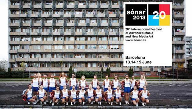 Cartel anunciador del XX Festival Sónar 2013
