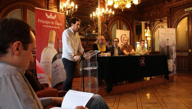 Entrega del premio al mejor Microrrelato de San Fermín.