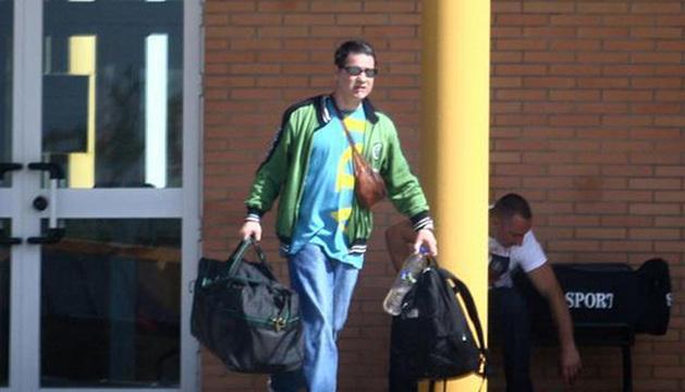 Troitiño, a su salida de la cárcel de Huelva en 2011.
