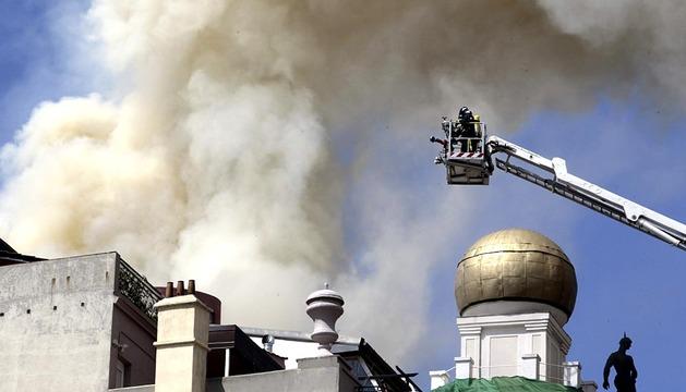 Incendio en el teatro Alcázar de Madrid