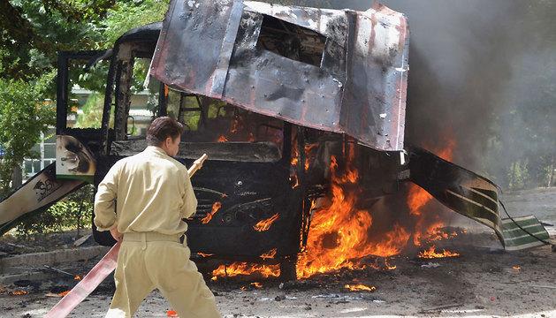 Explosión en la entrada de una universidad de mujeres de la ciudad de Quetta, Pakistán.
