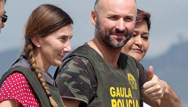 Los españoles secuestrados Ángel Sánchez Fernández (d) y de María Concepción Marlaska (i).