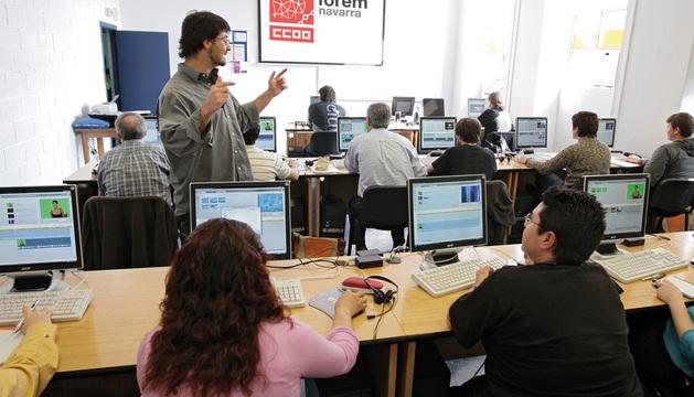 En 2012, se registraron 19.214 solicitudes por parte de desempleados para cursos del Servicio Navarro de Empleo.