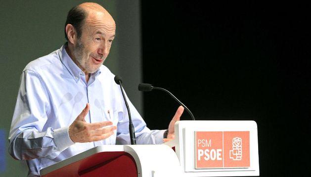 El secretario general del PSOE Alfredo Pérez Rubalcaba.