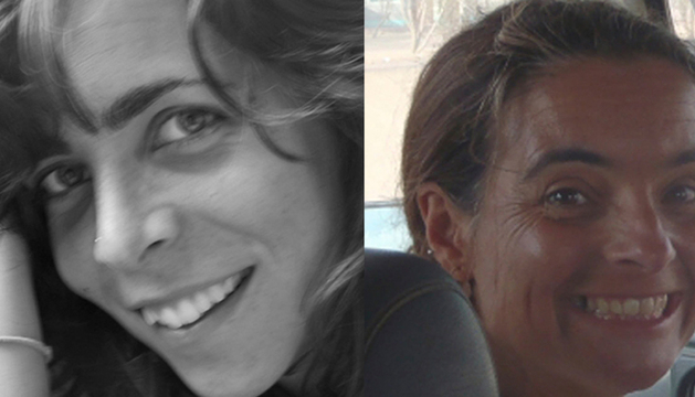 Blanca Thiebaut y Montserrat Serra.