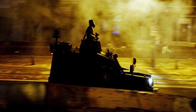 Una patrulla de la policía turca, esta madrugada en las calles de Estambul