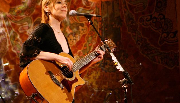 Suzanne Vega en concierto.