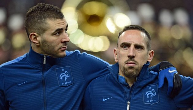 Benzema y Ribéry, compañeros en la selección francesa