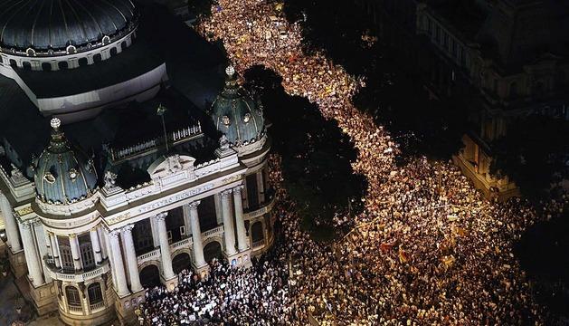 Descontento social en Brasil