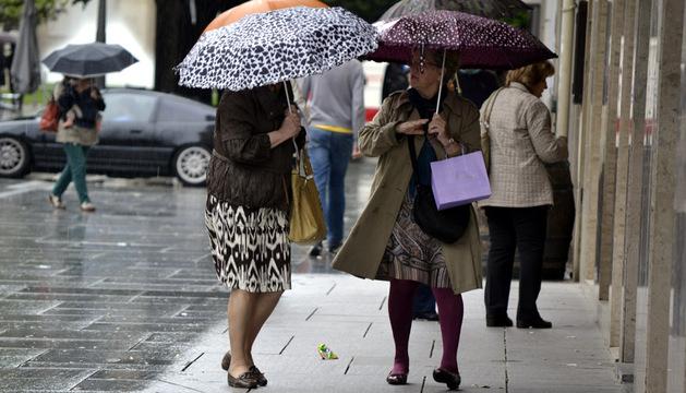 Día de paraguas en Pamplona