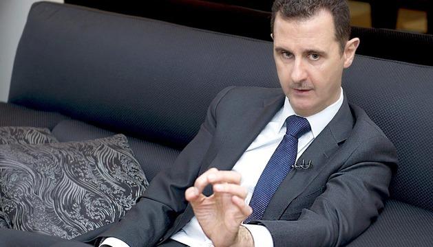 el presidente sirio, durante la entrevista con el diario alemán Frankfurter Allgemeine