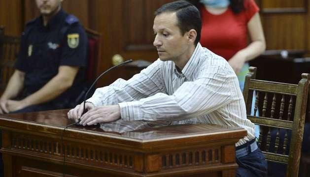 Imagen de José Bretón en la sala de vistas donde es juzgado acusado de matar a sus dos hijos, Ruth y José.