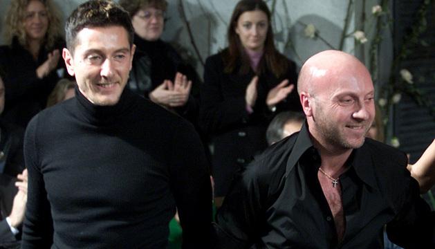 Domenico Dolce (a la derecha) y Stefano Gabbana.