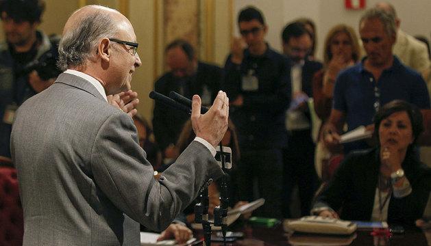 Montoro, durante las declaraciones que ha realizado en el Congreso.