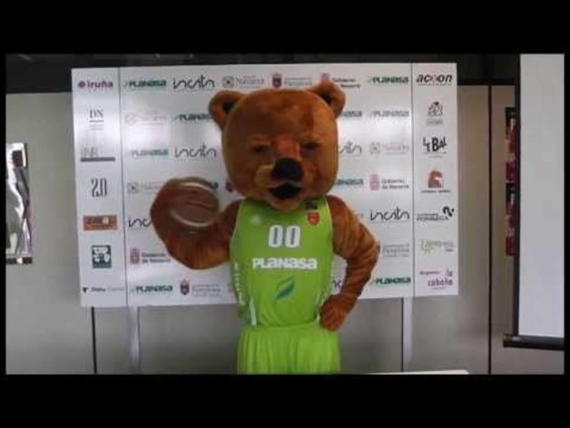 El oso Ronky, nueva mascota del Planasa Navarra