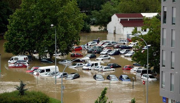 Inundaciones del pasado 9 de junio en la Rochapea.