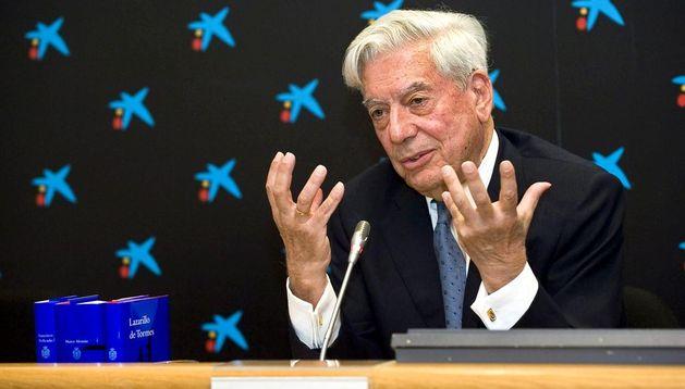 El Nobel de Literatura, Mario Vargas Llosa.